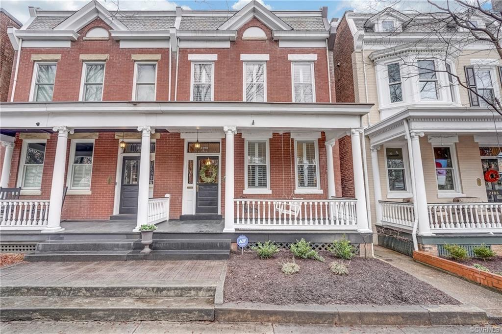 Come see this absolutely immaculate Fan District rowhouse well positioned on a quiet block and loade
