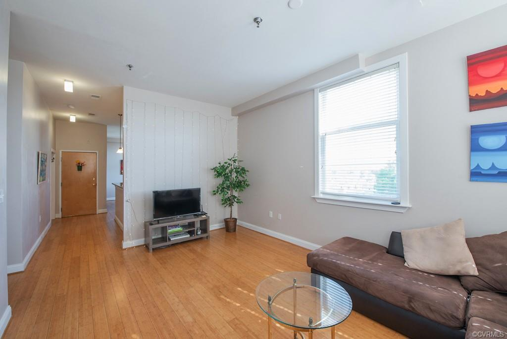 Eagle Mills Tower top floor, corner condo in the heart of VCU now for sale. This fifth floor unit, a