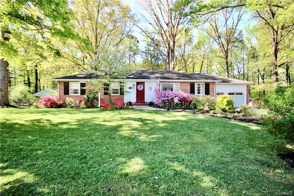 Welcome to 8327 Jupiter Drive in Blue Star Estates in the ATLEE HIGH SCHOOL DISTRICT! All Brick Ranc