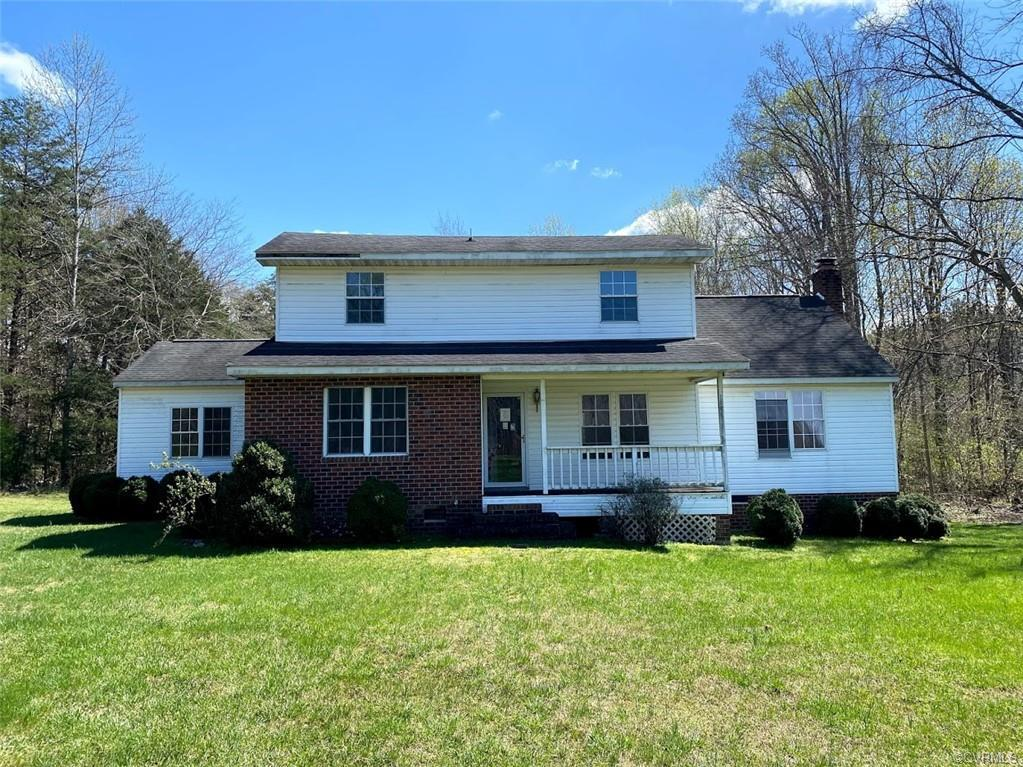 Lovely 2-story home situated on a private 2 acre lot.  Family room features a brick fireplace and fr