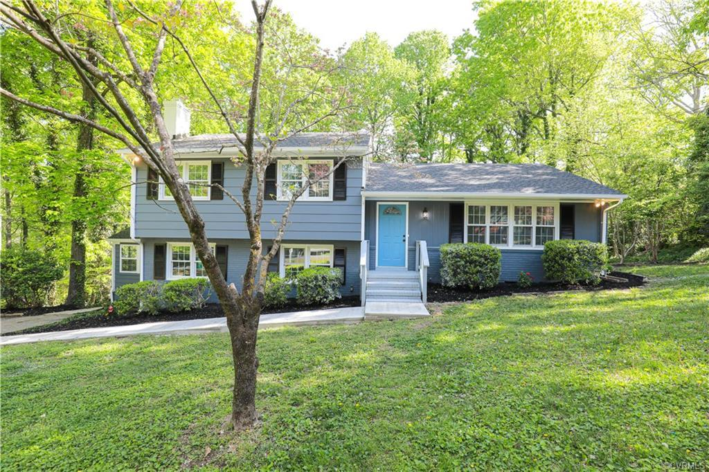 Welcome to 9720 Fernleigh Dr a like new renovated Tri-Level located in the Huguenot High School Dist
