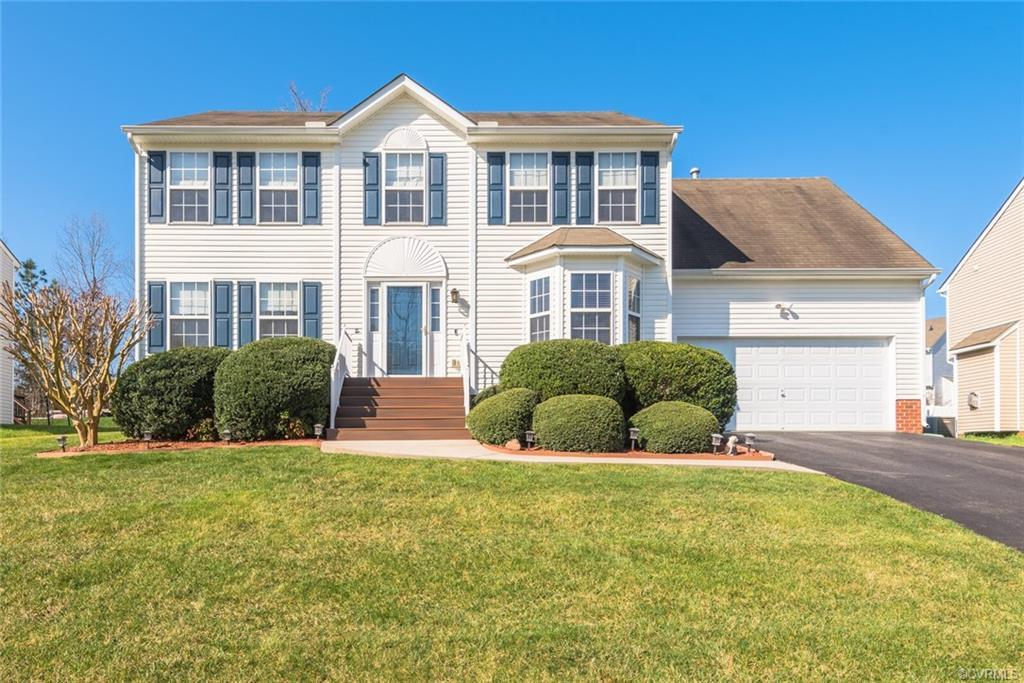 Outstanding opportunity in Windy Creek!  Beautiful Two Story Transitional is freshly painted, sparkl