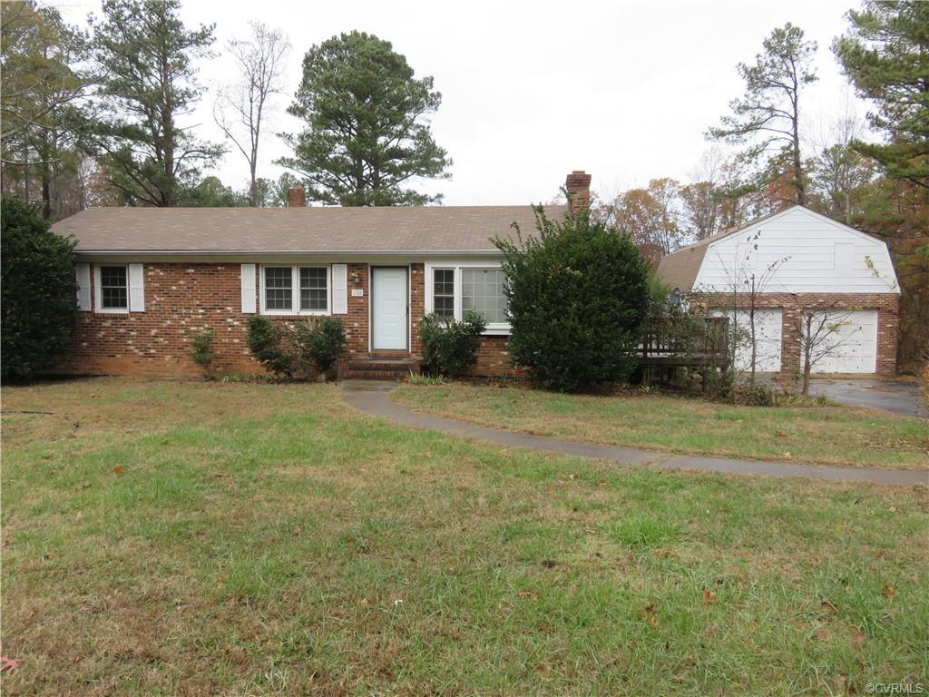 """Brick rancher with full basement on large lot (.98 of an acre) in """"close in"""" Powhatan County! Finish"""