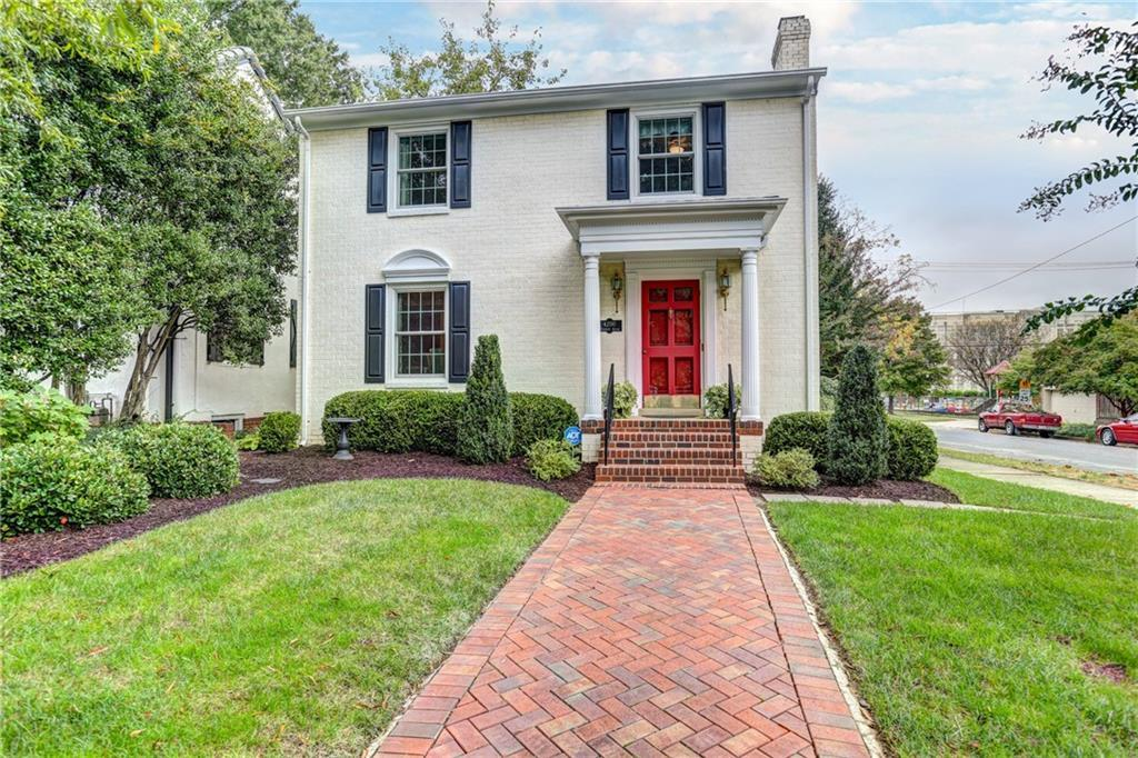 This charming colonial house sits on a beautiful corner lot on Monument Ave just a short drive/walk