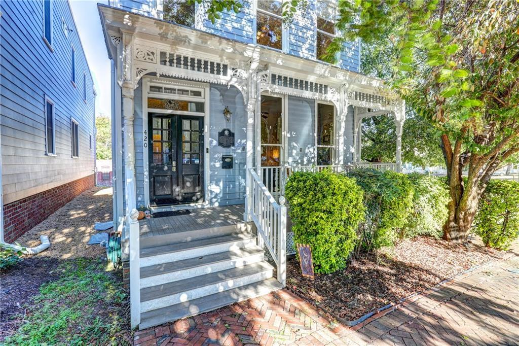 """Updated two-story detached circa 1900 light-filled """"Folk Victorian"""" home located on a corner lot in"""