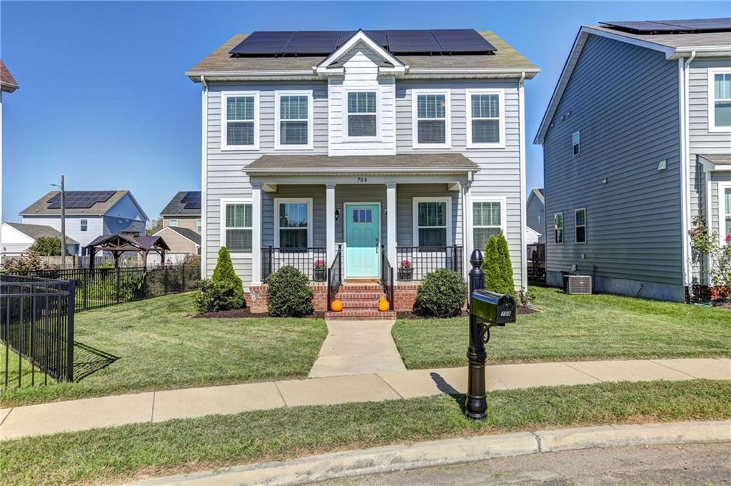Don't miss this gently lived in solar home in the Fulton Village neighborhood, conveniently located