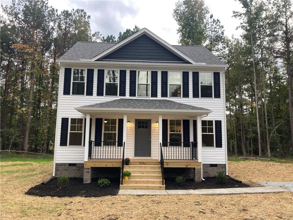 Rare opportunity to live in this brand new, very stylish 2 story colonial in a private setting just