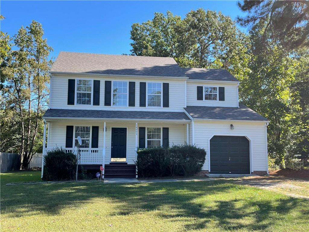 Freshly Painted Two story home w/ 4 bedrooms & 2.5 baths. Downstairs features living room, kitchen w