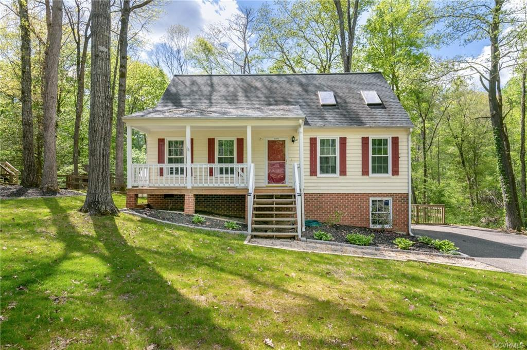 Great cape located on an ac lot in Deer Run. A very private rear yard with nice landscaping and hard