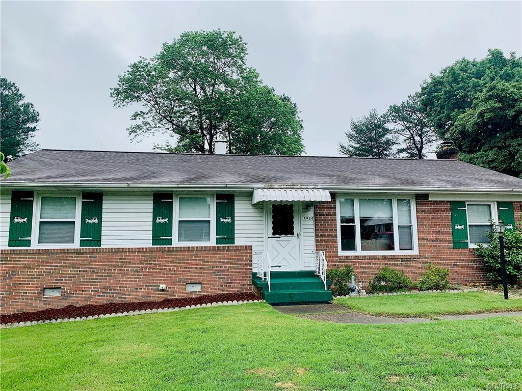 Welcome your new home in the heart of Mechanicsville! This brick ranch rests on a large lot in a qui
