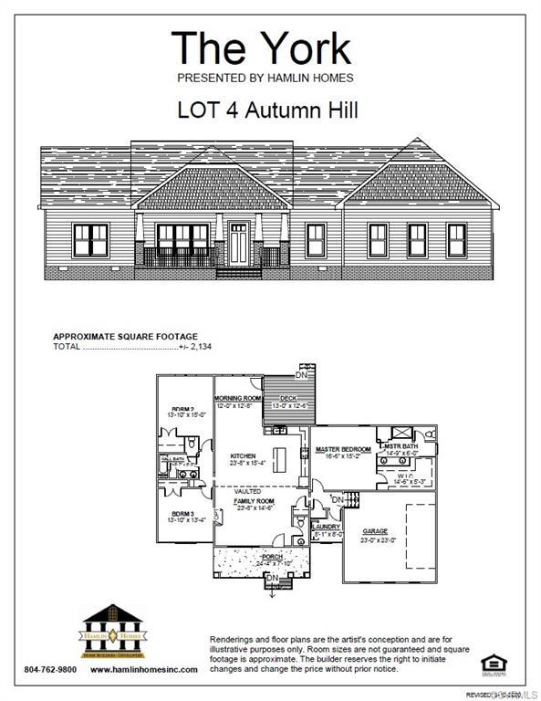 COMCAST HIGH SPEED INTERNET AVAILABLE for this craftsman style ranch plan on almost an acre lot!! We