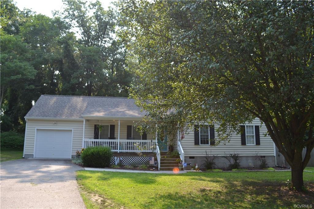Welcome home!  This home includes lots of updates including flooring and cabinets!  Open floor plan