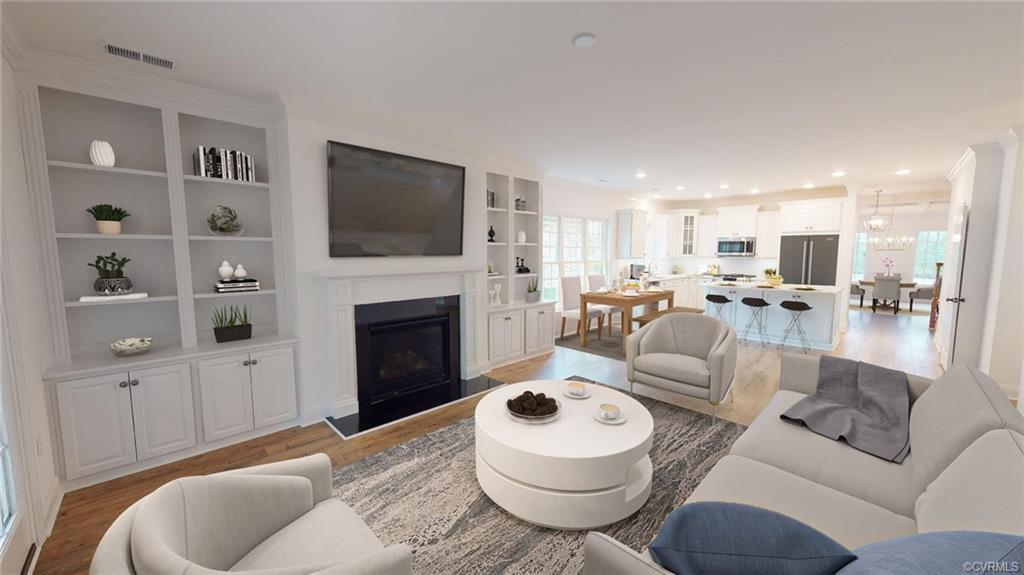 The Merecroft, a spacious open floorplan with everything you need on your first floor and more! An O