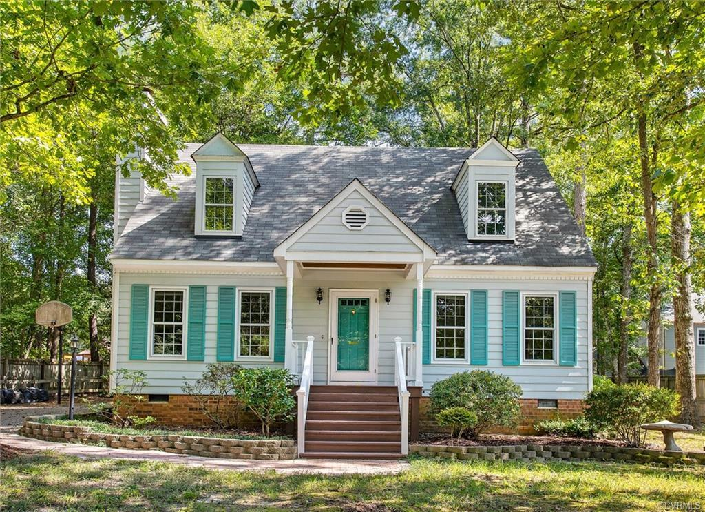You will absolutely fall in love with this CHARMING CAPE STYLE HOME with it`s dormer windows, covere