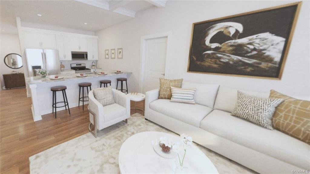 Main floor living in coveted new section of Rocketts Landing, with premier location to the river and