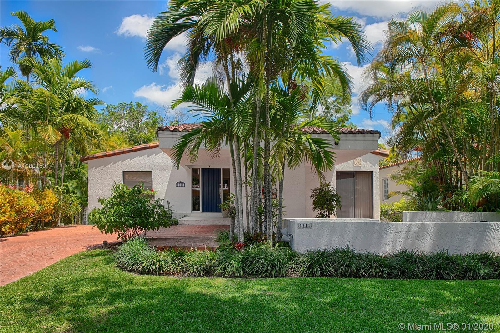 Well kept, one of a kind, Architect's home in North Gables. 1984 modern house with lots of natural l