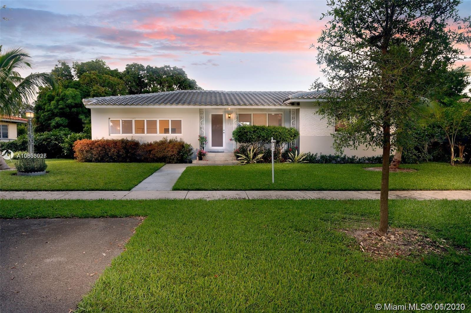 Charming 3/2 completely Renovated Home with 10,725 SqFt Lot in the Heart of Miami Shores. New Kitche